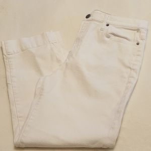 🍒J.Crew White Ankle Jeans 👖